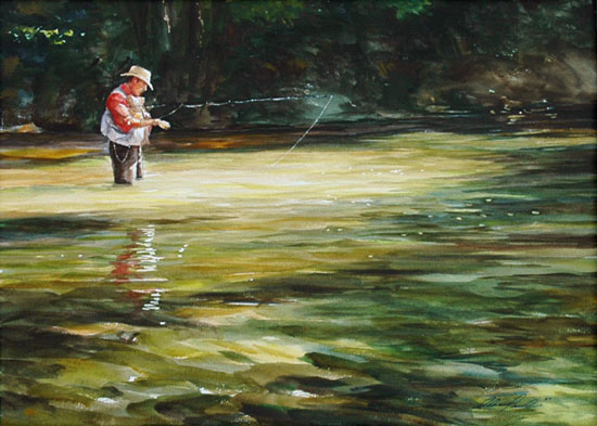 Fly Fishing Paintings For Sale